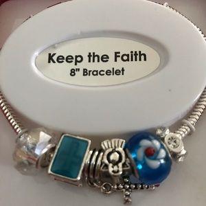 "Jewelry - ""Keep the Faith"" slider bracelet"